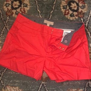 "Coral Chino Shorts 3 1/2"" inseam"